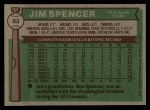1976 Topps #83  Jim Spencer  Back Thumbnail