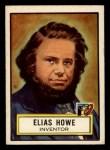 1952 Topps Look 'N See #75  Elias Howe  Front Thumbnail