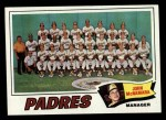 1977 Topps #134   -  John McNamara  Padres Team Checklist Front Thumbnail