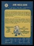 1969 O-Pee-Chee #35  Jim Neilson  Back Thumbnail