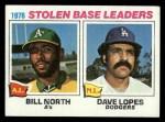 1977 Topps #4   -  Bill North / Dave Lopes SB Leaders   Front Thumbnail