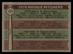 1976 Topps #591   -  Steve Grilli / Craig Mitchell / Jose Sosa / George Throop Rookie Pitchers   Back Thumbnail