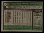 1979 Topps #275  Junior Moore  Back Thumbnail