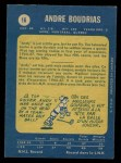 1969 O-Pee-Chee #16  Andre Boudrias  Back Thumbnail