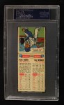 1955 Topps Double Header #105 #106 Hank Aaron / Ray Herbert  Back Thumbnail