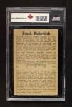 1958 Parkhurst #33  Frank Mahovlich  Back Thumbnail
