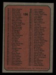 1975 Topps Mini #126   Checklist Back Thumbnail