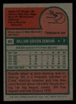 1975 Topps Mini #85  Bill Bonham  Back Thumbnail