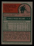 1975 Topps Mini #449  Charlie Williams  Back Thumbnail
