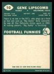 1960 Topps #10  Gene Lipscomb  Back Thumbnail