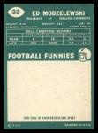 1960 Topps #33  Ed Modzelewski  Back Thumbnail
