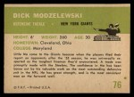 1961 Fleer #76  Dick Modzelewski  Back Thumbnail