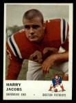1961 Fleer #186  Harry Jacobs  Front Thumbnail