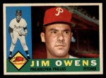 1960 Topps #185  Jim Owens  Front Thumbnail