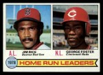 1979 Topps #2   -  George Foster / Jim Rice HR Leaders   Front Thumbnail