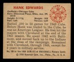 1950 Bowman #169  Hank Edwards  Back Thumbnail