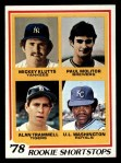 1978 Topps #707   -  Paul Molitor / Alan Trammell / Mickey Klutts / UL Washington Rookie Shortstops Front Thumbnail