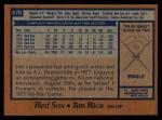 1978 Topps #670  Jim Rice  Back Thumbnail