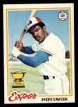 1978 Topps #72  Andre Dawson  Front Thumbnail