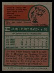 1975 Topps Mini #136  Jim Mason  Back Thumbnail