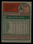 1975 Topps Mini #469  Tom Dettore  Back Thumbnail