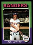 1975 Topps Mini #36  Joe Lovitto  Front Thumbnail