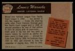 1955 Bowman #299  Lonnie Warneke  Back Thumbnail