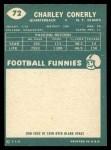 1960 Topps #72  Charley Conerly  Back Thumbnail