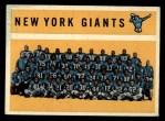 1960 Topps #82   Giants Team Checklist Front Thumbnail