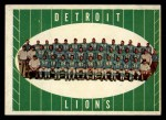 1961 Topps #37   Lions Team Front Thumbnail