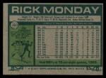 1977 Topps #360  Rick Monday  Back Thumbnail