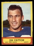 1963 Topps #58  Jim Patton  Front Thumbnail
