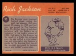 1970 Topps #95  Rich Jackson  Back Thumbnail