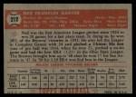 1952 Topps #212  Ned Garver  Back Thumbnail