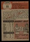 1953 Topps #11  Sal Yvars  Back Thumbnail