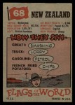 1956 Topps Flags of the World #68   New Zealand Back Thumbnail