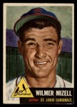 1953 Topps #128  Wilmer Mizell  Front Thumbnail