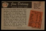 1955 Bowman #274  Jim Delsing  Back Thumbnail