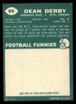 1960 Topps #99  Dean Derby  Back Thumbnail