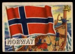 1956 Topps Flags of the World #77   Norway Front Thumbnail