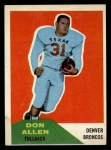 1960 Fleer #82  Dan Allen  Front Thumbnail