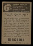 1951 Topps Ringside #4  Jimmy Flood  Back Thumbnail