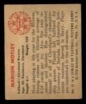 1950 Bowman #43  Marion Motley  Back Thumbnail