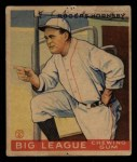 1933 Goudey #188  Rogers Hornsby  Front Thumbnail