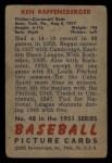 1951 Bowman #48  Ken Raffensberger  Back Thumbnail
