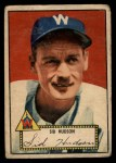 1952 Topps #60 RED Sid Hudson  Front Thumbnail