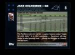 2007 Topps #8  Jake Delhomme  Back Thumbnail