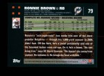 2007 Topps #79  Ronnie Brown  Back Thumbnail
