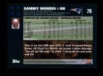 2007 Topps #78  Sammy Morris  Back Thumbnail
