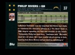 2007 Topps #37  Philip Rivers  Back Thumbnail